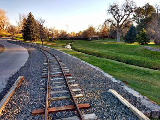 road, railway, landscape, travel, outdoors, tree, grass, perspective
