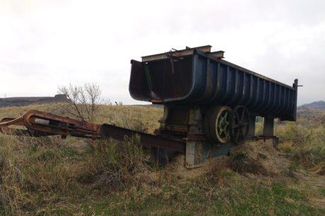 maskinen, lokomotiv, forlatt, kjøretøy, industri, utendørs, rust, landbruk
