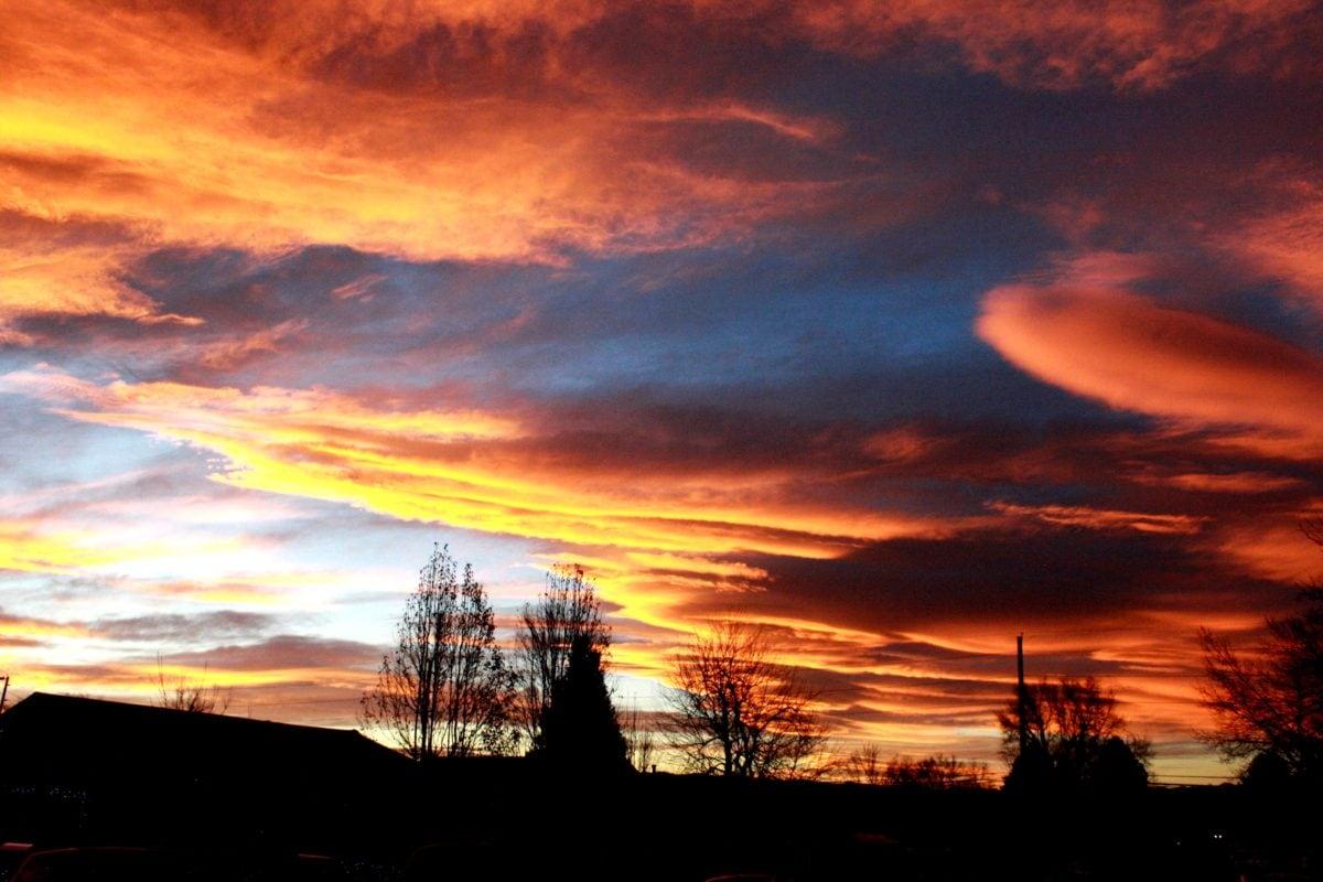 manzara, Güneş, bulutlar, bulut, günbatımı, atmosfer, Şafak, akşam