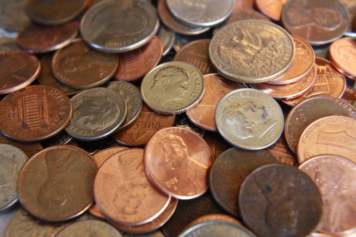 kolikot, pankki, pankki, valuutta, rahoitus, kolikon, säästöt, käteisellä