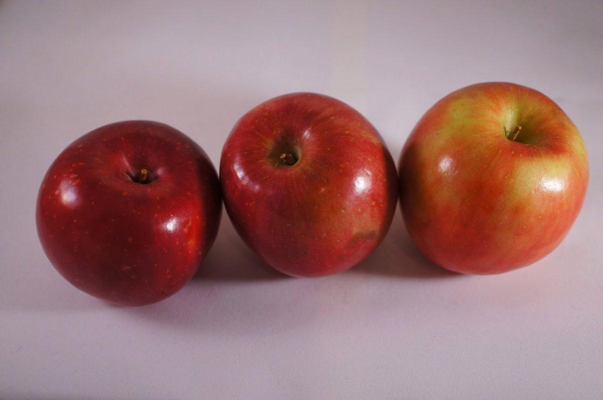 tiga, buah, pertanian, antioksidan, apel, apel, kalori, lezat