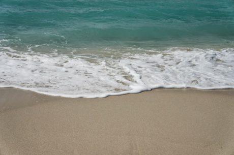 piasek, morze, fala, oceanu, pianki, wody, surfing, podróży