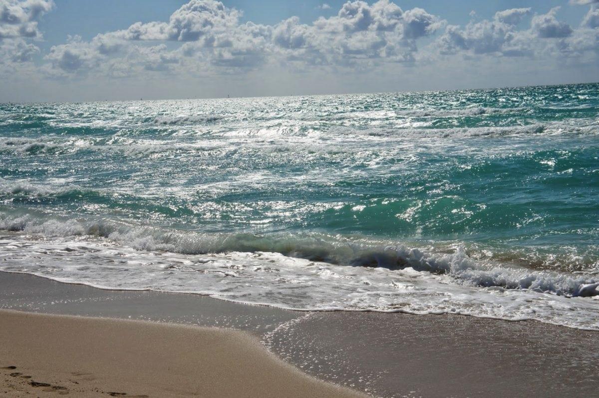 ökoturizmus, Fair weather, hullám, víz, tenger, partvonal, homok, óceán