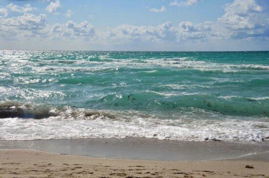 Schönwetter, Gezeitenwasser, am Meer, Küste, Ozean, Strand, Wasser, Küste