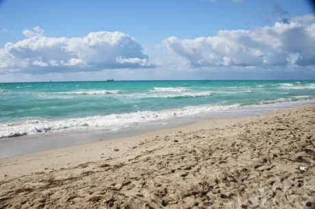 ocean, vand, sand, sky, strand, ferie, havet, kyst