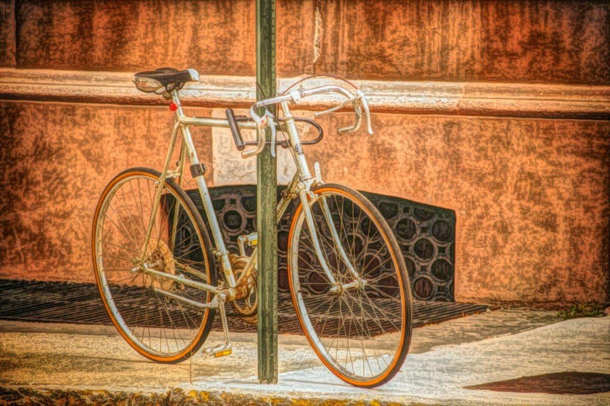 uređaj, bicikl, sjedište, ciklus, podrška, bicikala, drvo, kolo