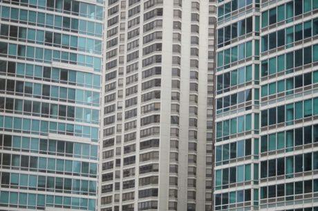 centro da cidade, cidade, arquitetura, arranha-céu, edifício, moderna, urbana, fachada