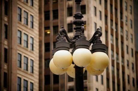 чугун, електричество, лампа, град, архитектура, сграда, улица, градски