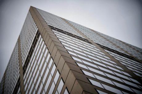 перспектива, сграда, небостъргач, стъкло, архитектура, кула, град, Прозорец