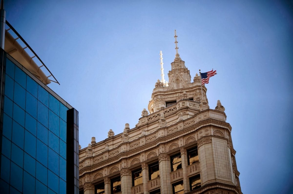 lippu, Yhdysvallat, rakentaminen, palatsi, arkkitehtuuri, matkustaa, pilvi, kaupunki