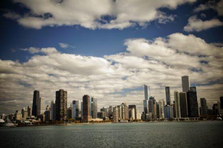 área urbana de, Ciudad, frente al mar, paisaje urbano, Centro de la ciudad, Skyline, arquitectura, Oficina