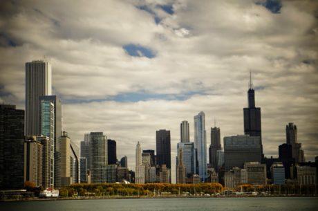 в центъра, пристанище, архитектура, градски пейзаж, сграда, град, Skyline, небостъргач