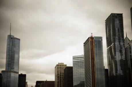 mrak, architektonický styl, architektura, budova, budovy, obchodní, obchodní město, střed