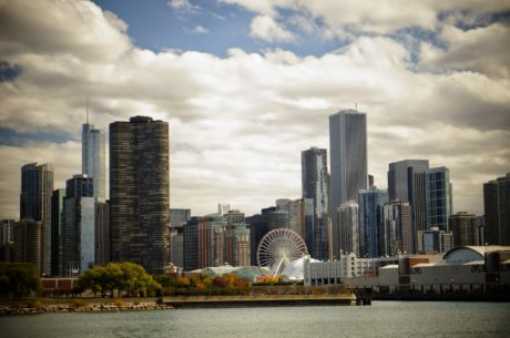 arkitektur, bybildet, skyline, byen, bygge, sentrum, kontor, Urban