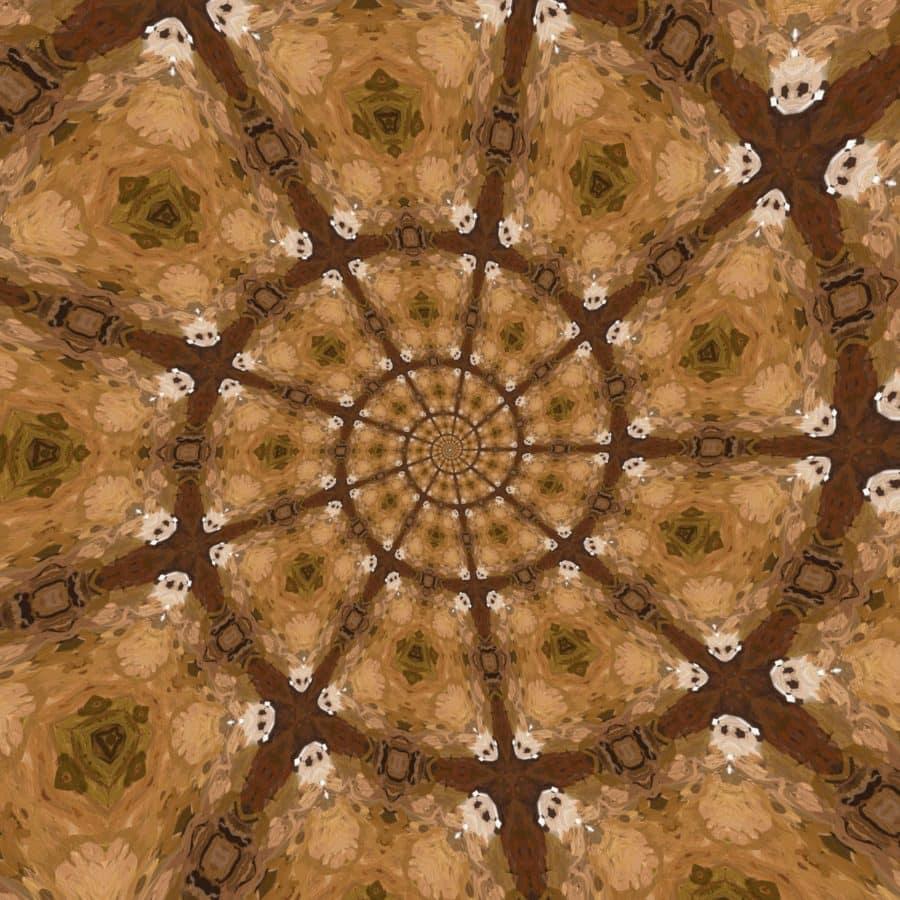 сюрреалистический, геометрических, динамический, шаблон, Аннотация, Крыша, купол, фантазия