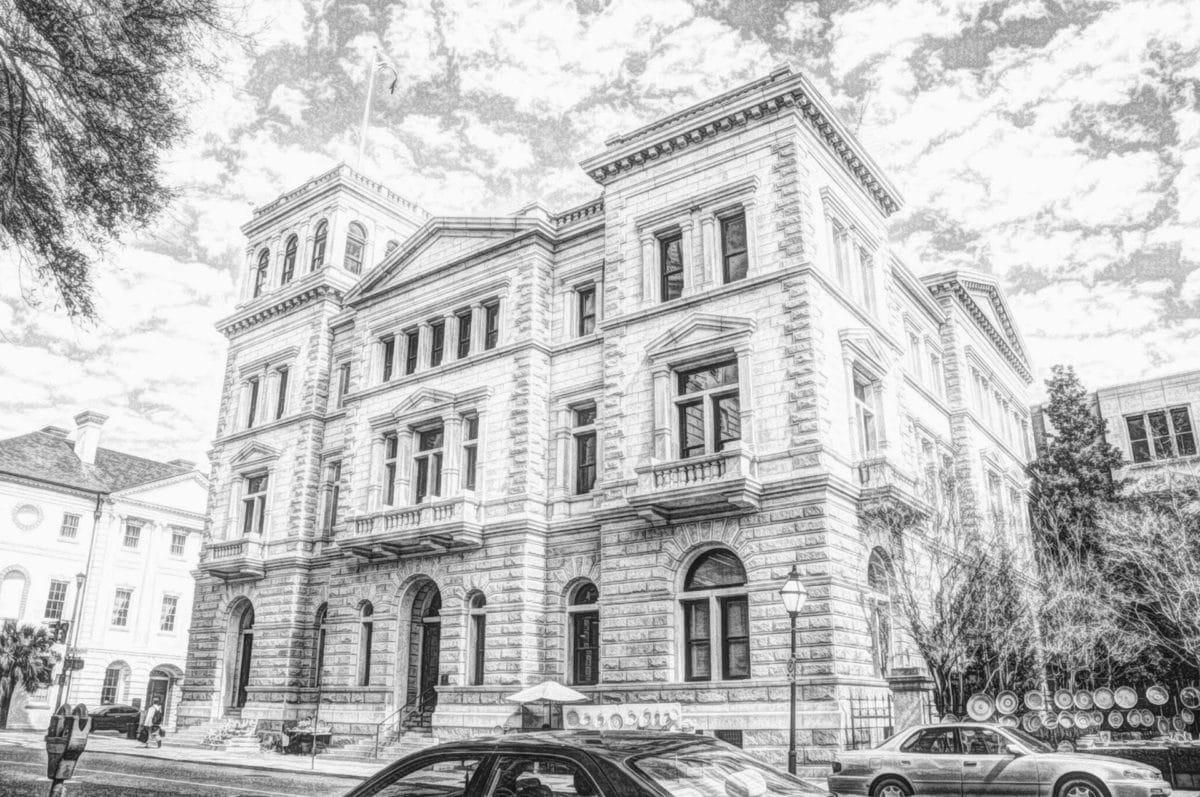 noir et blanc, Création de, illustration, monochrome, Photomontage, Palais, façade, architecture