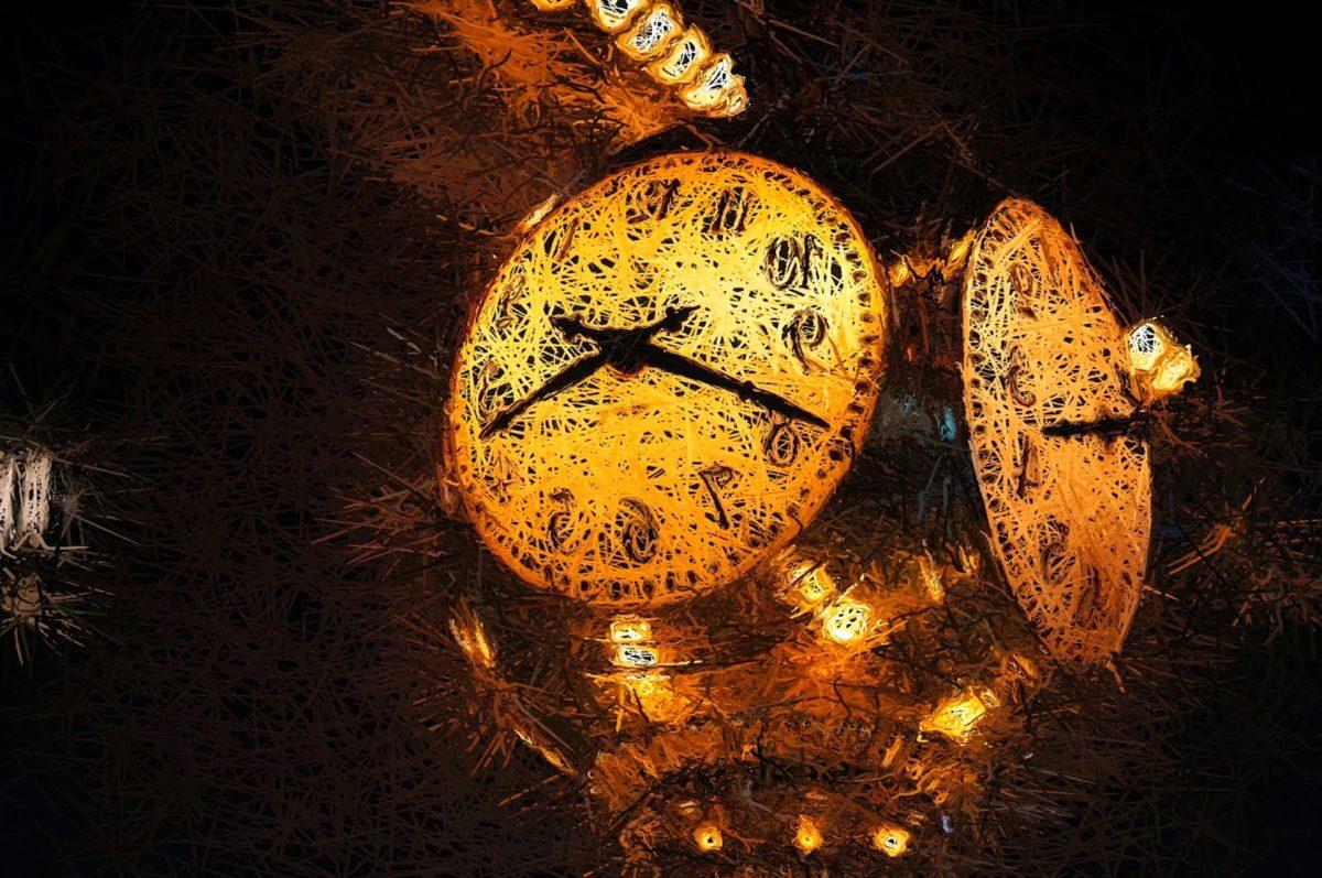часовник, часовник, аналогов часовник, време, светлина, Коледа, изкуство, декорация