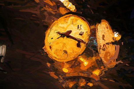 фотомонтаж, часовник, живопис, изкуство, илюстрация, светлина, енергия, цвят