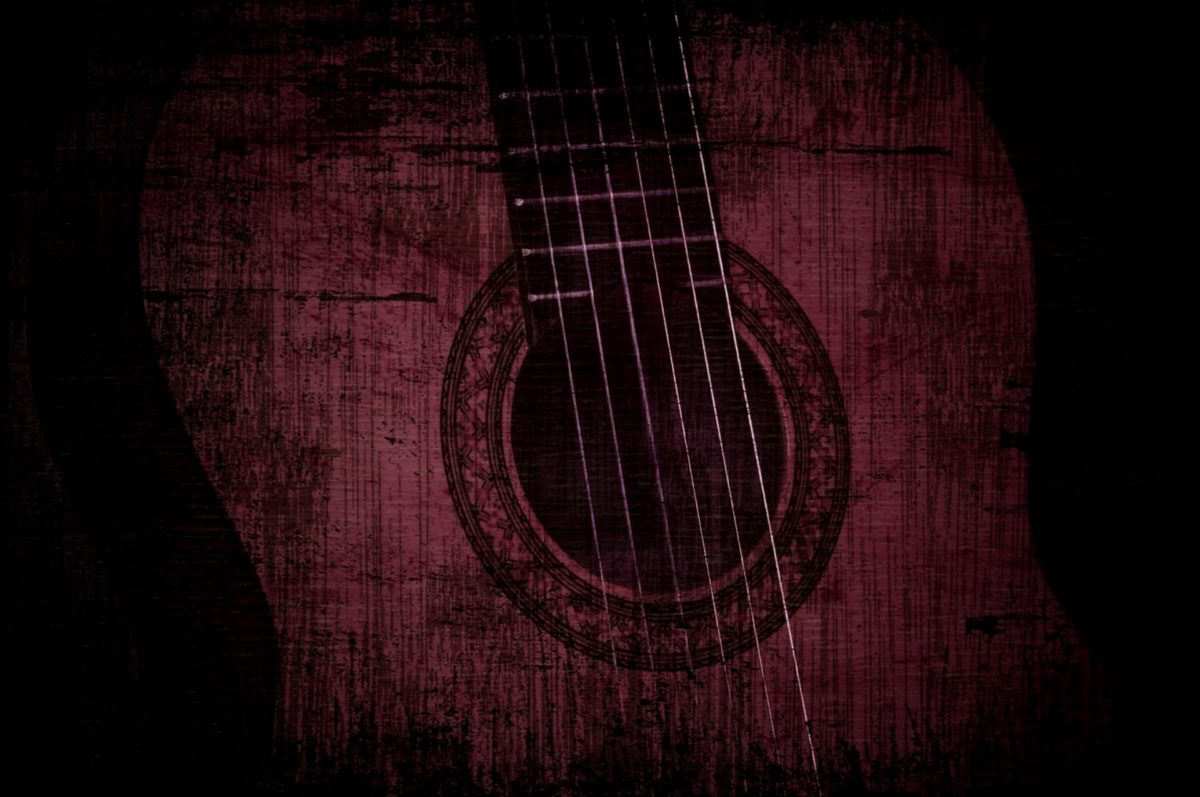 akustisk, gitar, fotomontasje, instrumentet, streng, musikalske, lyd, musikk