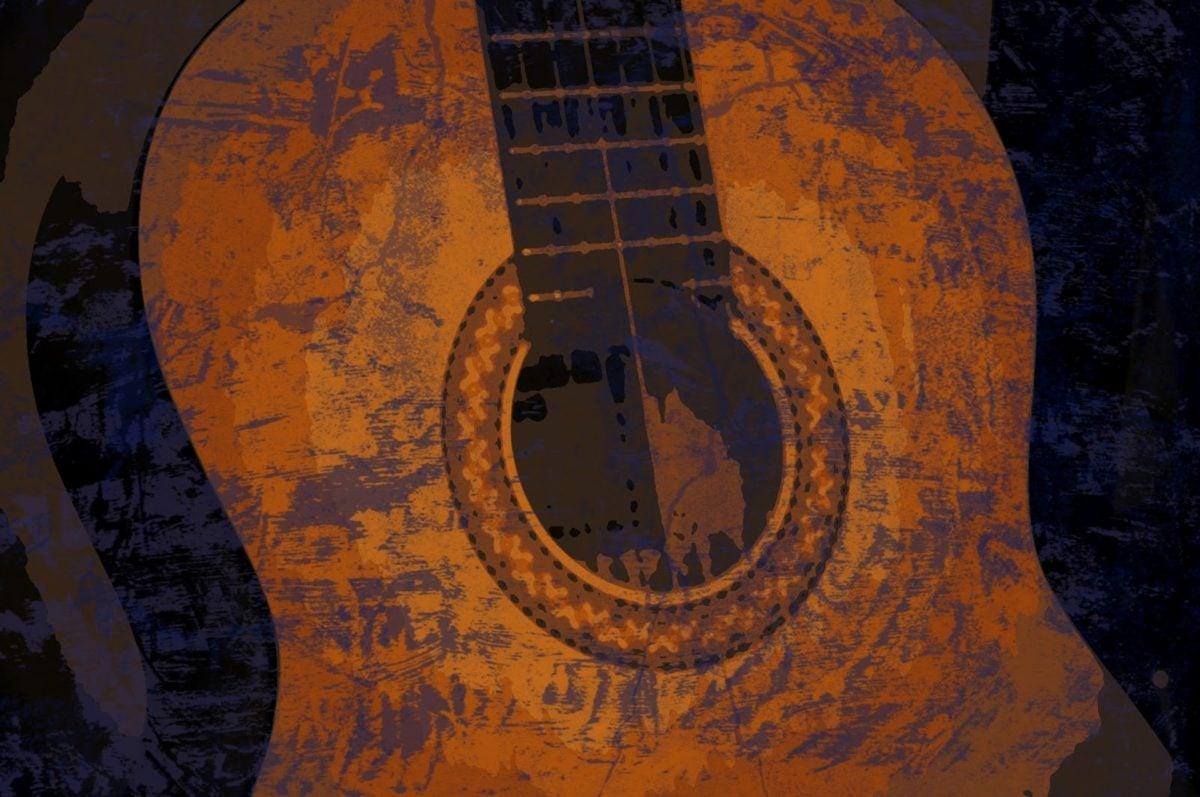 acústico, escuridão, Belas Artes, pintura a óleo, música, guitarra, som, instrumento