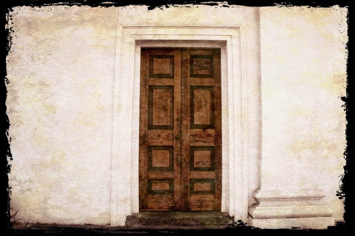 Luovuus, kuvataiteen, Etuovi, kuvayhdistelmä, vanha, ovi, rakentaminen, seinä