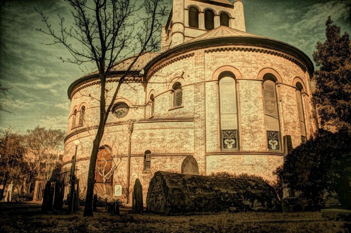 illustratie, middeleeuwse, klooster, Kathedraal, kerk, religie, gebouw, het platform