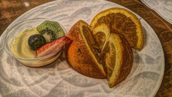 beaux arts, peinture à l'huile, alimentaire, pimenter, fruits, nature morte, tranche, repas