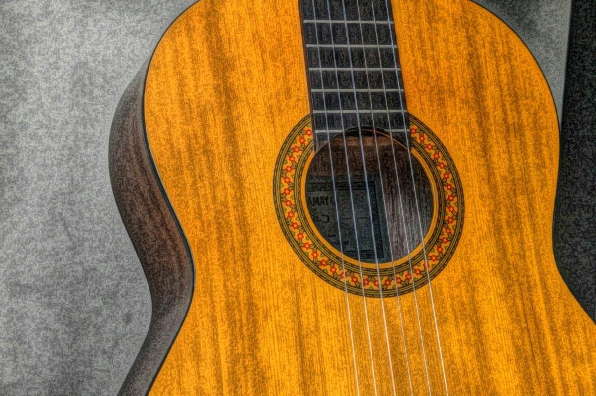 kuvataiteen, akustinen, väline, klassikko, Musiikki, kitara, puu, puinen