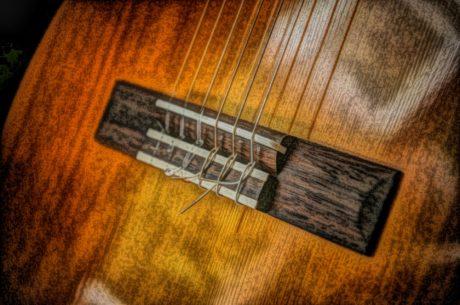 akustično, likovnih umjetnosti, gitara, ilustracija, objekat, ulje na platnu, drvo, drveni