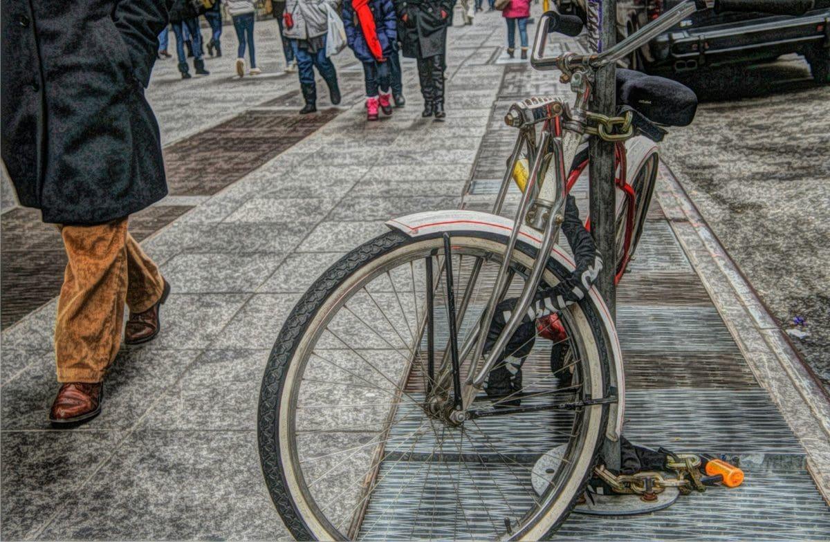 vélo, fantôme, unité, roue, gens, véhicule, Itinéraire, rue