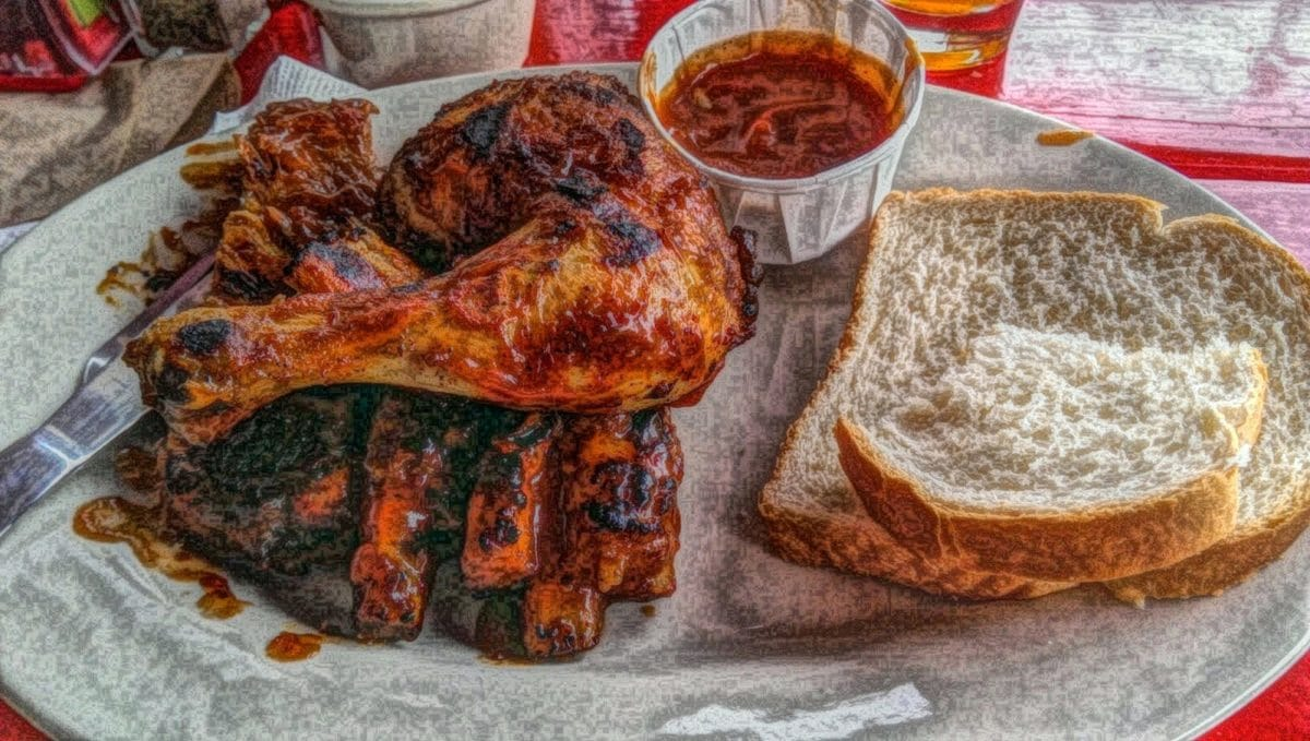 Grill, kunst, oljemaleri, middag, lunsj, krydder, mat, kjøtt