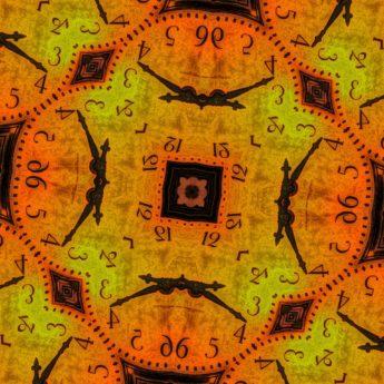 fantasi, ornament, klokke, puslespill, tid, kunst, gamle, mønster