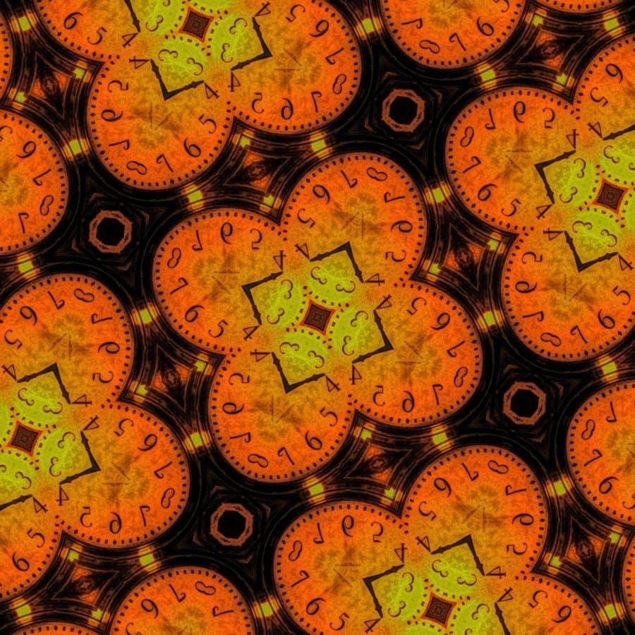 Arabesque, Jigsaw puzzel, sieraad, klok, uur, tijd, abstract, textuur