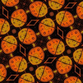 arabesco, ornamental, fotomontaje, símbolo, simetría, reloj, reloj analógico, reloj