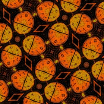 Arabesque, dekorativ, fotomontasje, symbolet, symmetri, timepiece, analog klokke, klokke