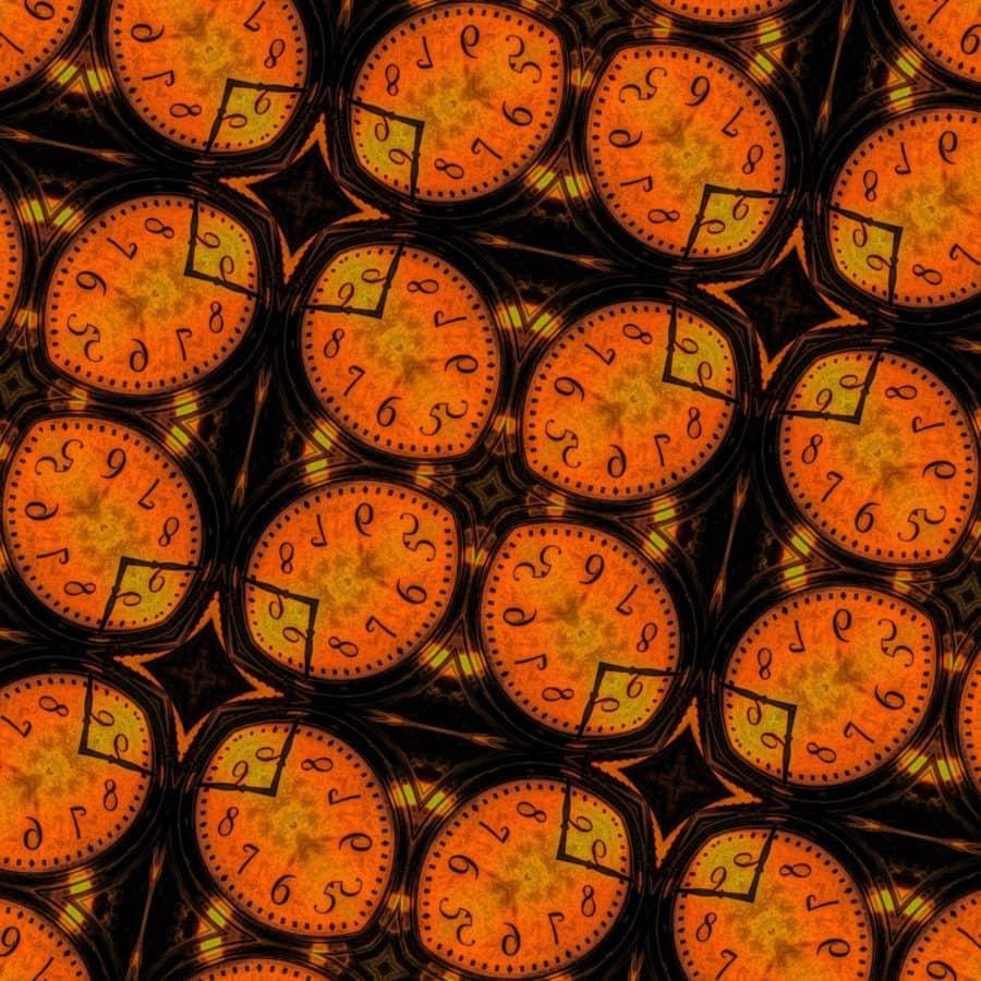 arabesco, orologio analogico, orologio, orologio, ora, rotondo, settore, vecchio
