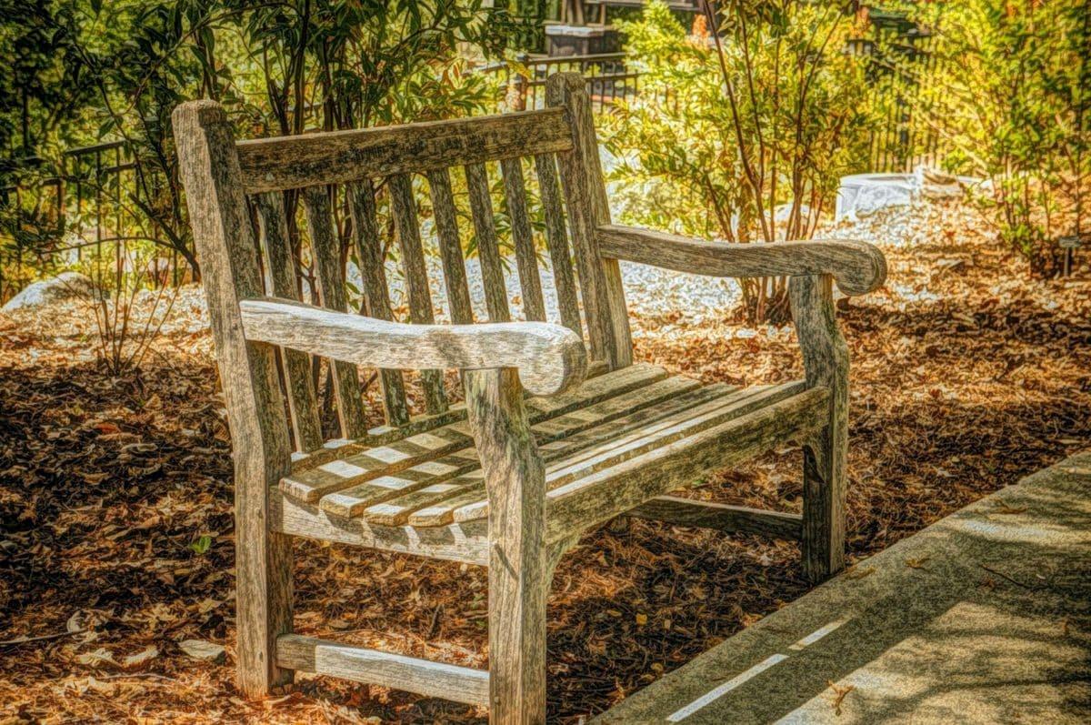 beaux arts, peinture à l'huile, meubles, bois, chaise, en bois, siège, banc