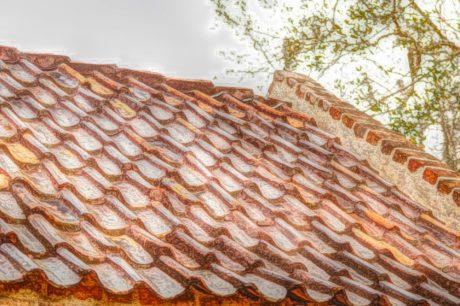 cobrindo, para telhados, material, telhado, telha, textura, padrão, construção