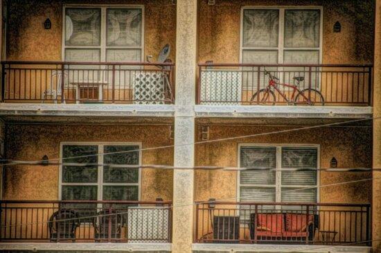 balcon, peinture à l'huile, Photomontage, structure, architecture, Création de, fenêtre, maison