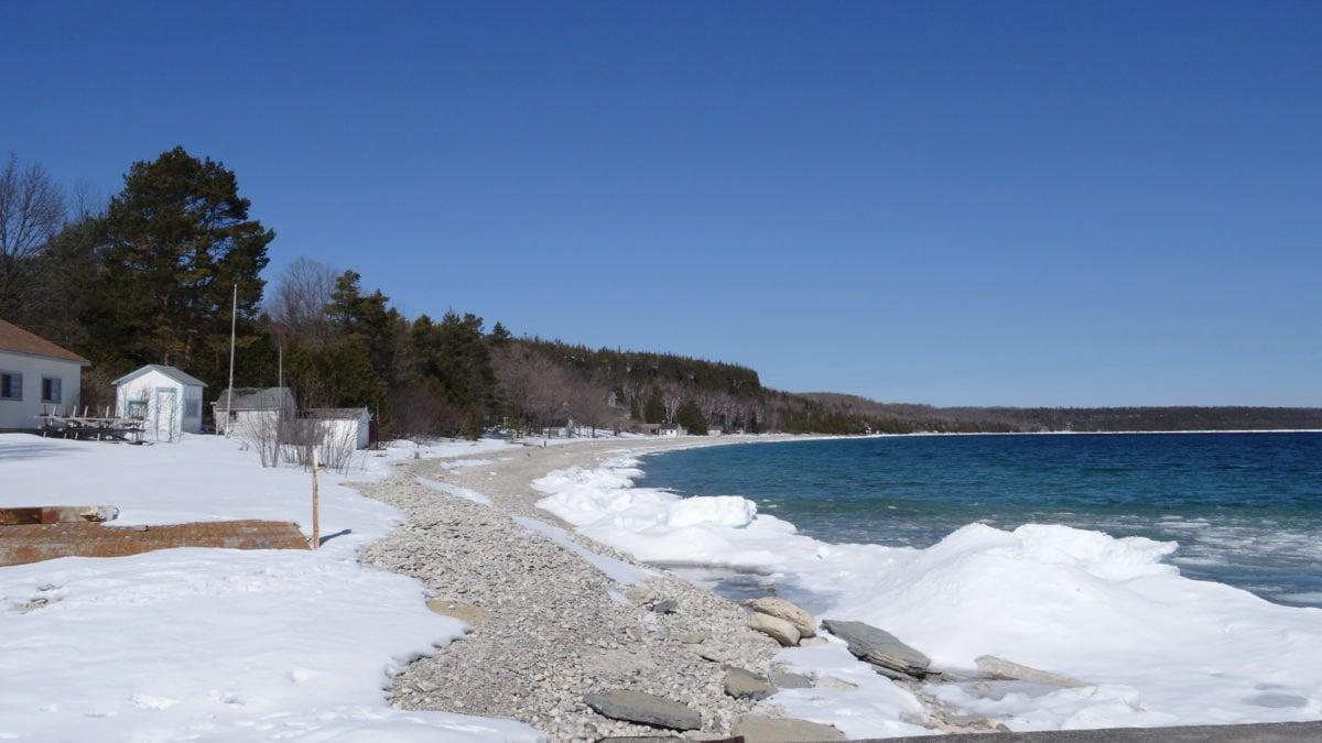 студена вода, лед, зимни, вода, бреговата линия, море, пейзаж, бариера