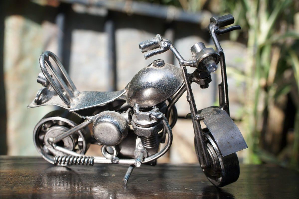 métalliques, moto, objet, jouet, vélo, roue, vieux, véhicule