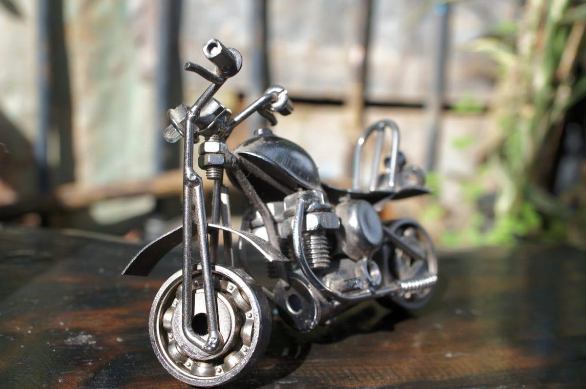 métalliques, miniature, moto, moto, moteur, roue, vieux, Vintage