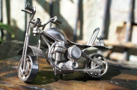 metal, metallic, miniature, motorcycle, object, toy, seat, wheel