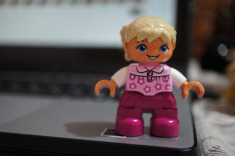 en détail, poupée, plastique, jouet, jeune fille, gens, chambre, Portrait