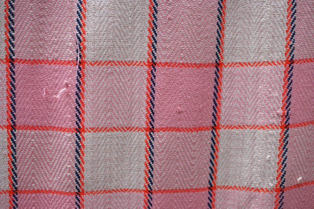 blanket, design, geometric, pink, material, cotton, fabric, textile
