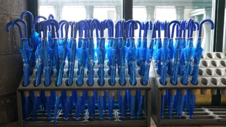 blue, shop, umbrella, rack, industry, equipment, business, plastic