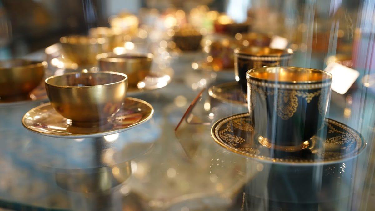 kerámia, Részletek, luxus, objektum, porcelán, üzlet, kupa, bögre