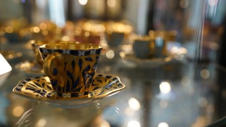 ceramic, porcelain, tableware, cup, container, blur, traditional, table