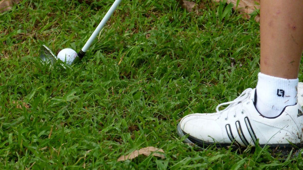 Golf, golflabda, fű, szabadidő, cipő, szabadidő, Sport, labda