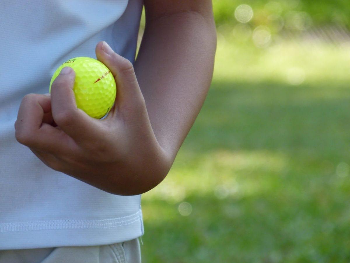 Golf, golfboll, utrustning, frukt, boll, naturen, Utomhus, sommar